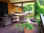 Front deck - complete with hammock!  Perfect place to read, doze off to sleep and dream............