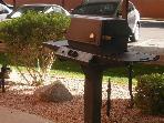 Barbecues steps from front door Anasazi Village Condos Resort