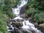 Torc waterfall within walking distance of our home