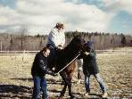James Gandolfini's first time on a horse
