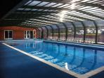 Covered outdoor swimming pool