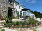 Large conservatory with Yeo Valley views