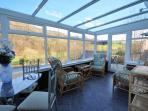 Kitchen with window over the garden