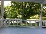 View from front porch in summer