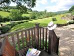 View from the raised decking of the property