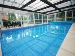 Enjoy a swim in the indoor pool