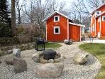 Backyard Built-in Fire Pit