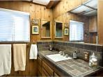 Master Bathroom tastefully decorated