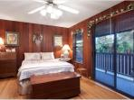 Spacious Queen bedroom with garden views