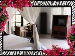 Master Bedroom King bed, A/C, Ensuite bathroom, Mosquito nets, desk TV/DVD, Safe 26/04/2014