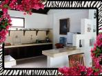 Spacious eqipped kitchen, fridge, stove-top [gas], kettle,  bottled water 26/04/2014