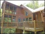 Deck with screened in porches