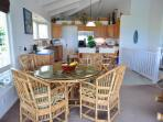 The Kitchen and Island Dining Areas