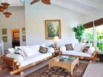 Living Room with Oversized Bamboo Sofa