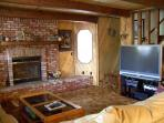 Fireplace & 50' HDTV