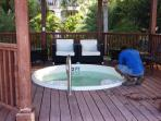 Hot tub being cleaned