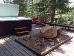 Grandee Hotsprings Hot Tub on lower deck seats 7