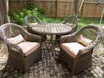 Outdoor living with patio dinning set
