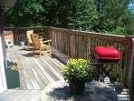 another angle of deck with hot tub
