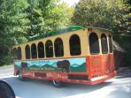 Trolley at the bottom of the mountain that goes to GB and Pigeon Forge