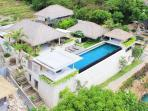 Aerial view of Villa Biru