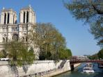 Notre Dame Cathedral on the island in the heart of the city is a short walk from the apartment