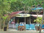 Aqua Sport Bar & Restaurant on the beach.