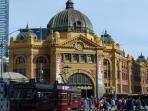 Flinders Street Station 6 minute walk