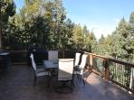 Spacious deck with natural gas grill