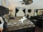 Master Suite 1 with King Bed ensemble, DVD, 32' LED TV, I-phone dock/charge