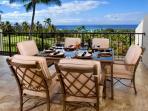 Main lanai - gas barbecue, 6 seat dinning table