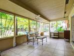 Enjoy the screened in porch by the pool!