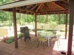 BBQ for sizzling steaks and Gazebo for dining in shade