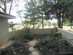 Dry stream architectural feature  in Vistas front garden area