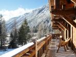 Stunning balcony views of Mont Blanc Mountain Range