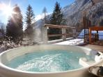 Relaxing hot tub with amazing views