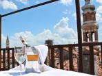 Relaxing moments in the exclusive panoramic deck terrace! Altana Albachiara