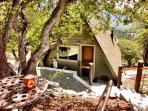 Pine Rock Retreat, a private cozy A-Frame Studio-Style Idyllwild Cabin