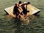 Fun on the Floating Dock