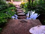 River Stone Entrance Stone Steps Overlooking Exterior