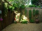 Garden Surrounding The Outside Shower To Bring Your Inner Goddess