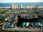 Arial view from Mobile Bay of Beach Club complex