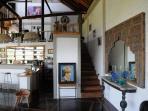 kitchen/ bar plus upper level