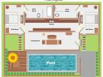 Floor plan 2 bedroom pool villa