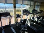 FITNESS ROOM WITH BEACH VIEW