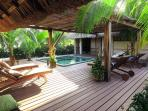 Outside private deck and plunge pool