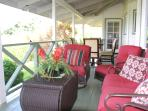 Lanai furniture with beautiful ocean views