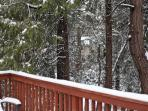 View from the deck in the winter