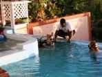 Pool shot - diving lessons