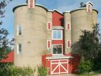 Double silos with bedrooms above
